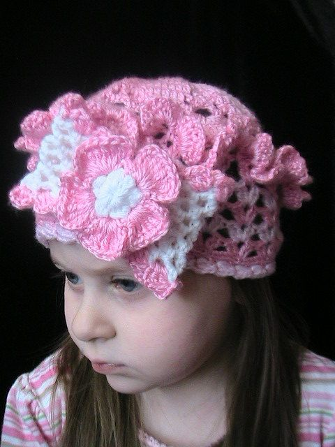 Crochet Beret Hat for girls, Baby Girl French Bow Beret Crochet ...