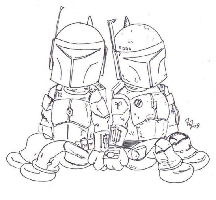 Lego Jango Fett Coloring Pages