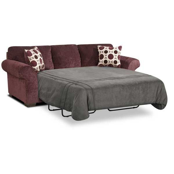 charming Affordable Sleeper Sofa Part - 17: sit down and relax in the Prism Upholstery sleeper sofa from Affordable  Furniture. This delicious elderberry colored queen size sleeper sofa will  be ...