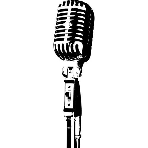 old microphone silhouette