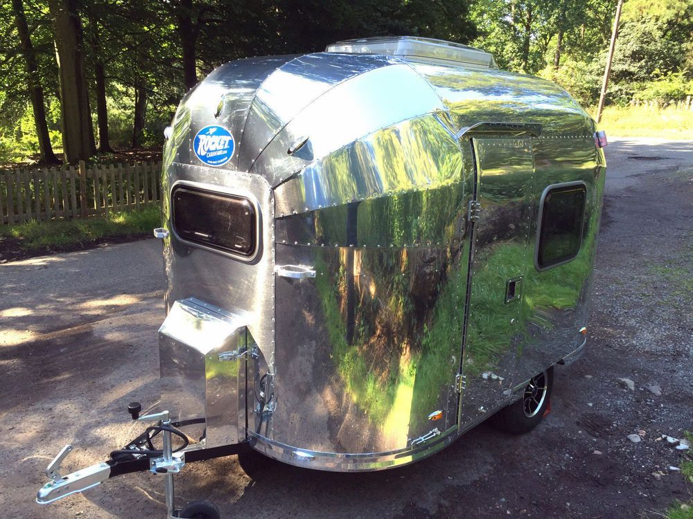 MINI VINTAGE AIRSTREAM STYLE ROCKET BEBE 2 BERTH CARAVAN ULTRA LIGHTWEIGHT 380KG