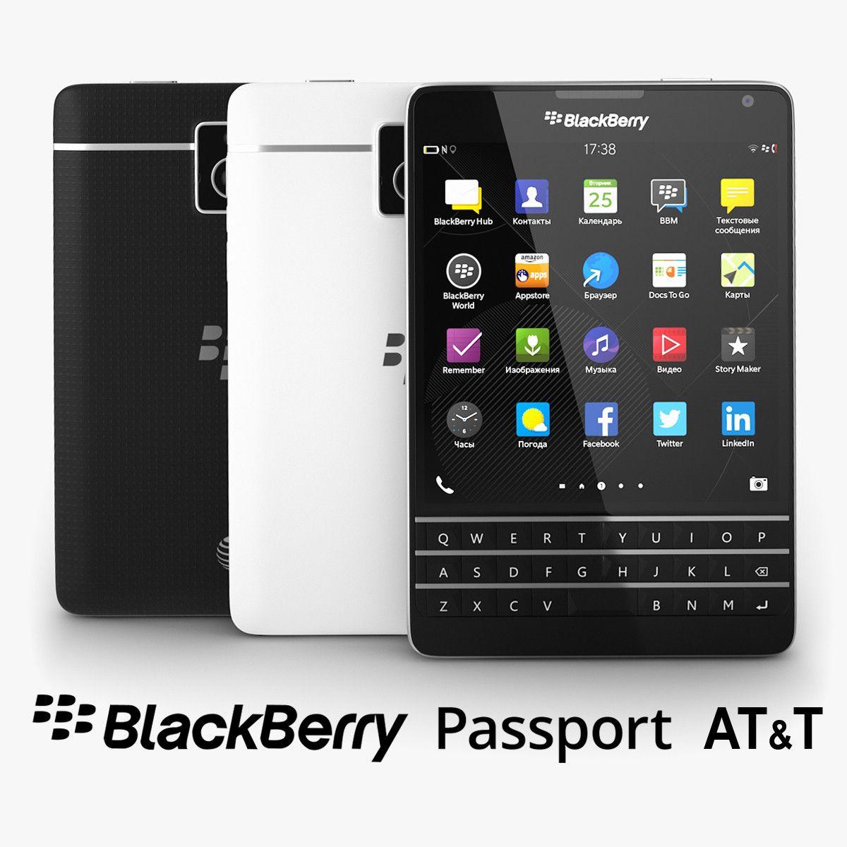 3D Model Of Blackberry Passport T Black 3D Model