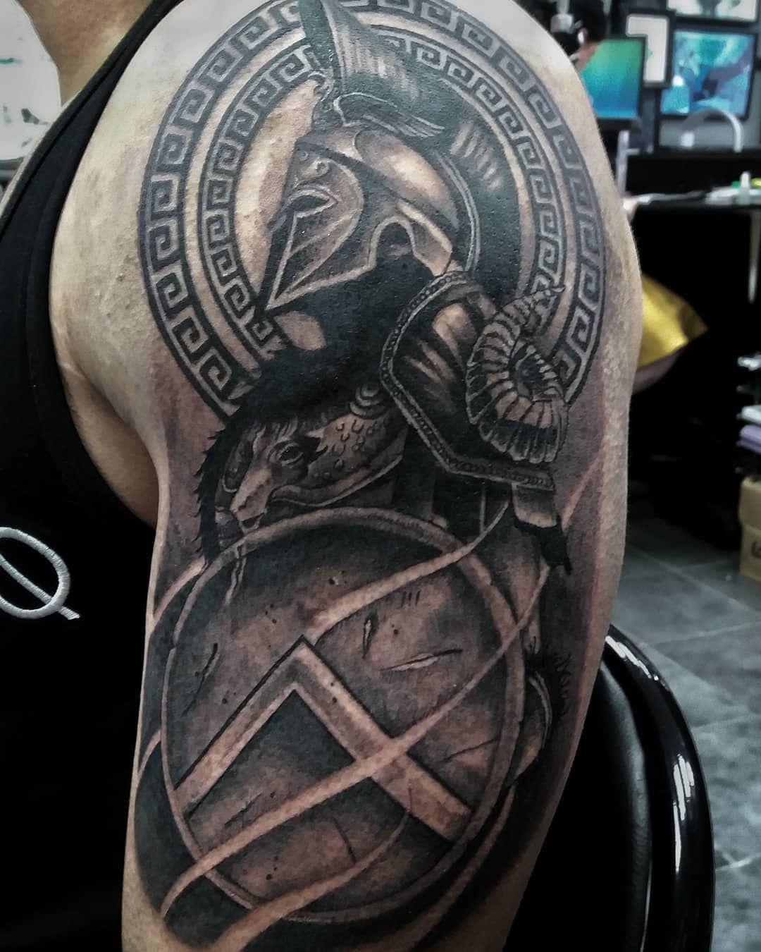 Spartan Warrior Jaman Knz Gmail Com Nextchaptertattoostudio Jaman Tattoo Tat Tattooideas Tattodesign Bla Spartan Tattoo Gladiator Tattoo Warrior Tattoos