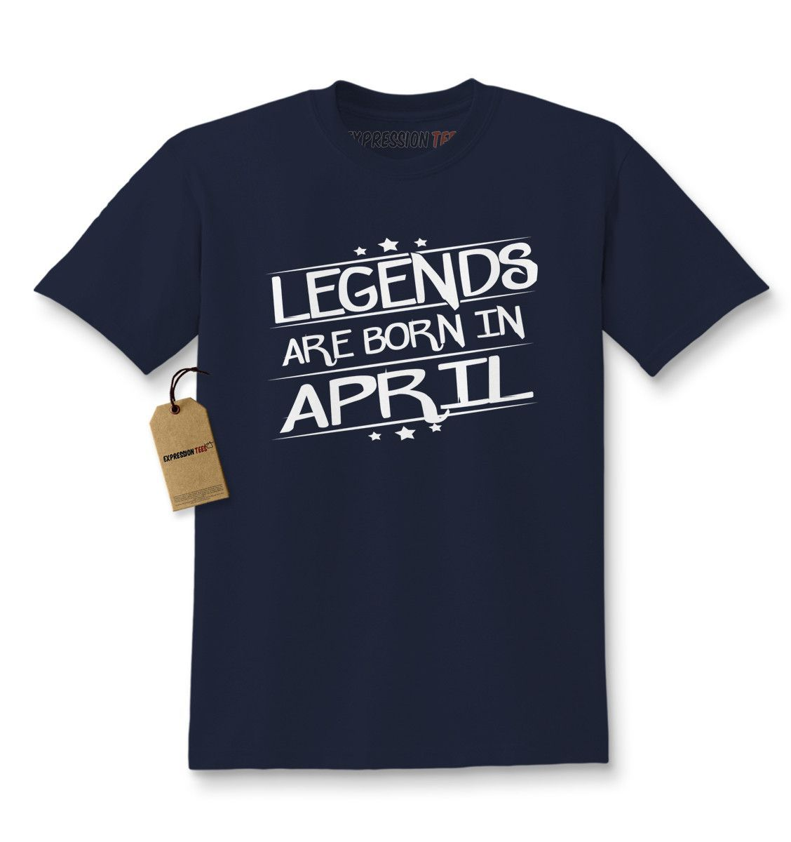 Legends Are Born In April Kids T-shirt