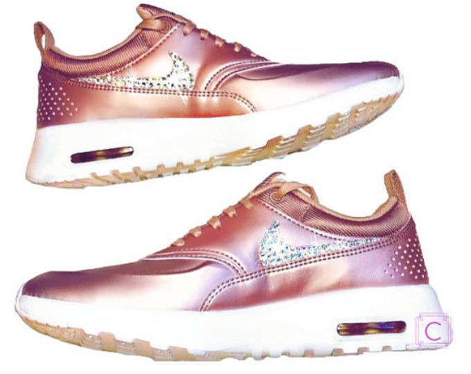 Bling Swarovski Nike Air Max Thea - Bling Nike shoes in Rose Gold with  Swarovski® Xirius Crystals Authentic New in Box - Nike Thea Limited e6b8f3613