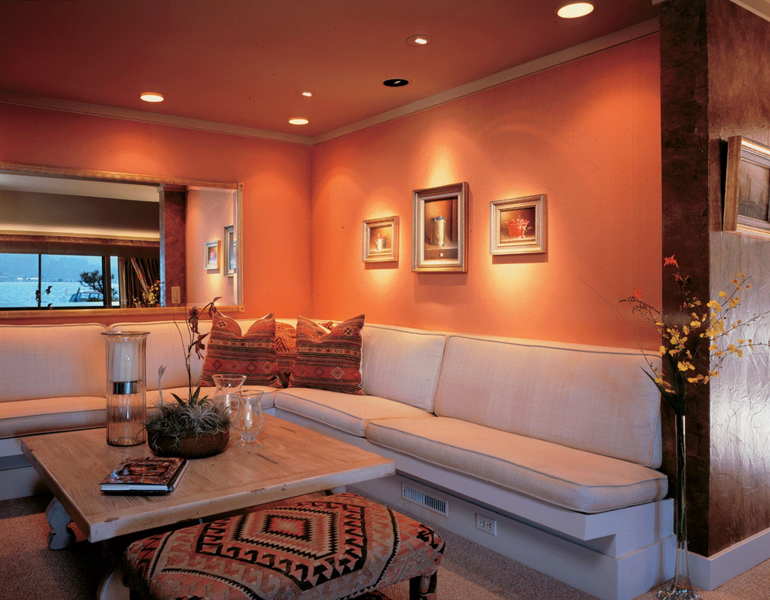 10+ Amazing Peach Living Room Decor
