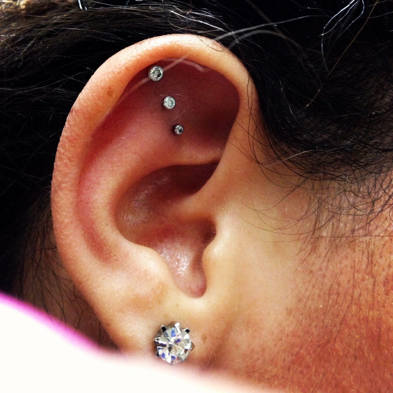 Triple ear piercing of mine-loving it :)   Tattoos and ...