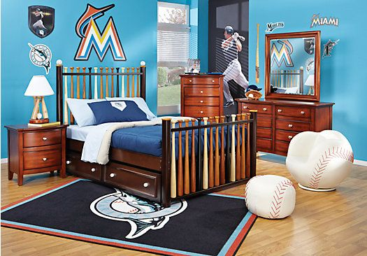 Shop For A Batter Up 5 Pc Twin Bedroom At Rooms To Go Kids Find That Will Look Great In Your Hom Baseball Bedroom Boys Bedroom Decor Cherry Bedroom Furniture