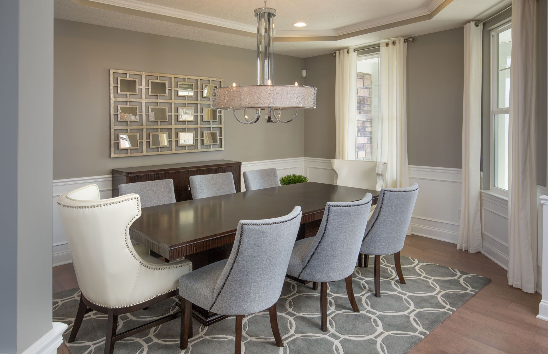 Make A Grand Statement And Add Dimension To Your Dining Room With A Contemporary Piece That Features A Panel Of Mirrors Pu Home Dining Room Decor Home Decor