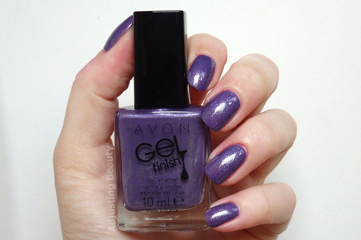 Review And Swatch Of Avon Gel Finish Nail Enamel In Lavender Shimmer Nails Nail Polish Gel