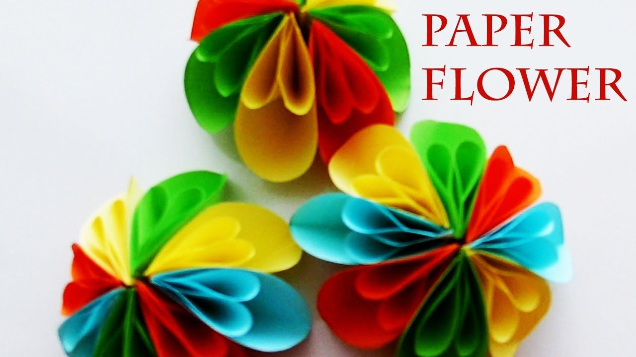 How To Make A Paper Flower Flower Crafts For Children With