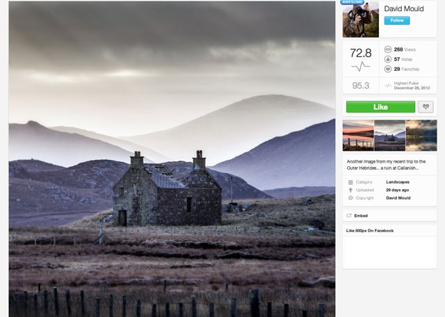 Inspirational landscape photographers on 500px: David Mould image