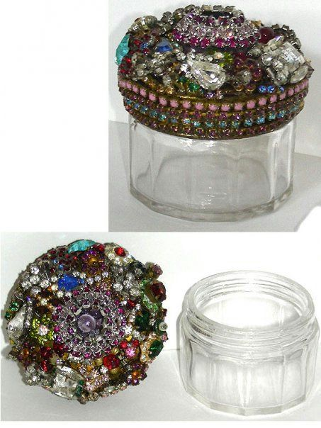 Pin Jar Covered In Vintage Jewelry Made By My Mom You Can