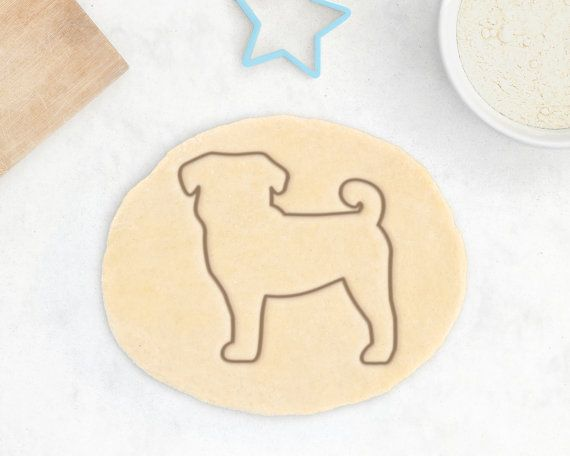 big discount exquisite design official Pug Cookie Cutter - Custom Pug Cookies Personalized Pug Gift ...