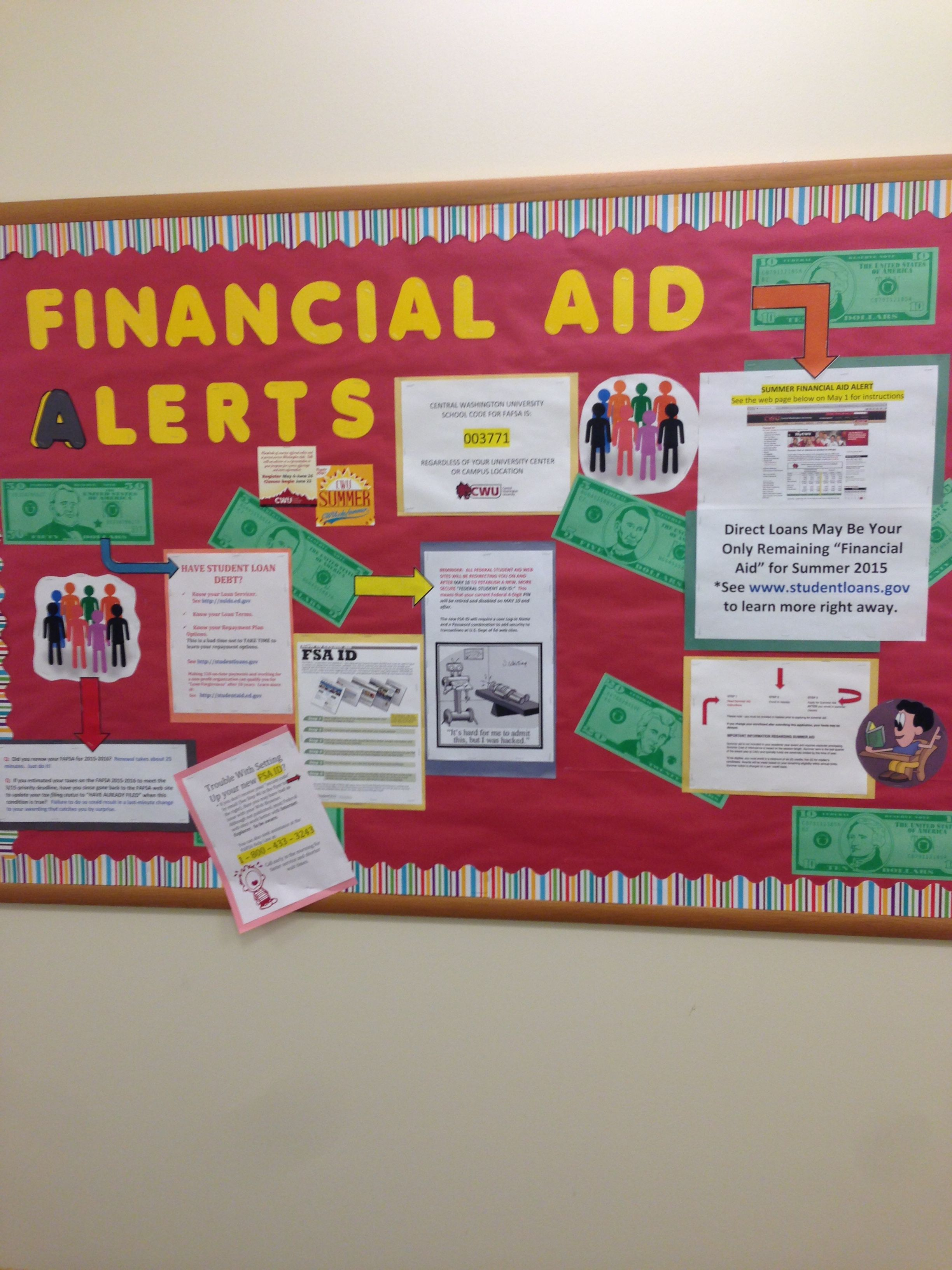 Financial aid board Financial aid, College counseling