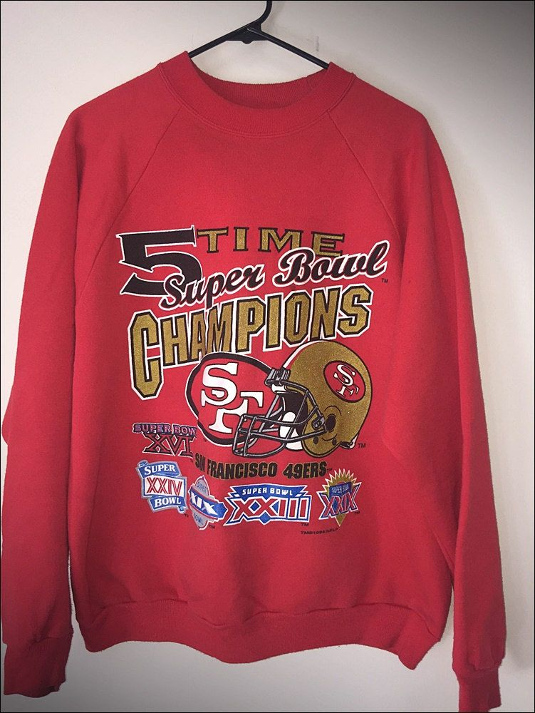 20% OFF 1980's San Francisco 49ers Sweatshirt / Vintage 49ers Gear / 49ers Football Sweatshirt / American Football prJyDJo