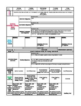 St Grade Common Core Lesson Plan Template  Lesson Plan Templates