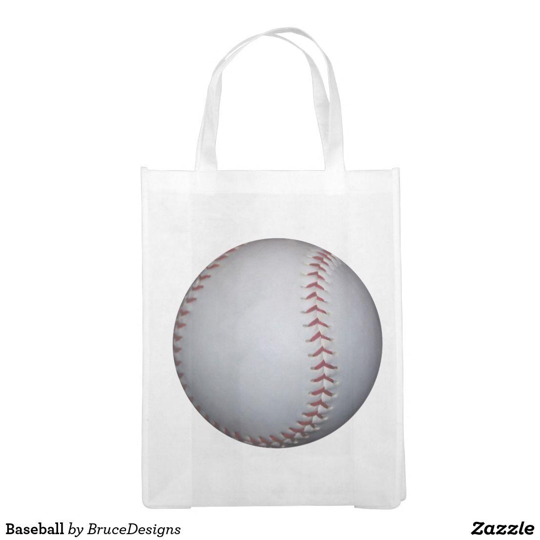 Baseball Reusable Grocery Bag Zazzle Com Reusable Grocery Bags Grocery Bag Bags