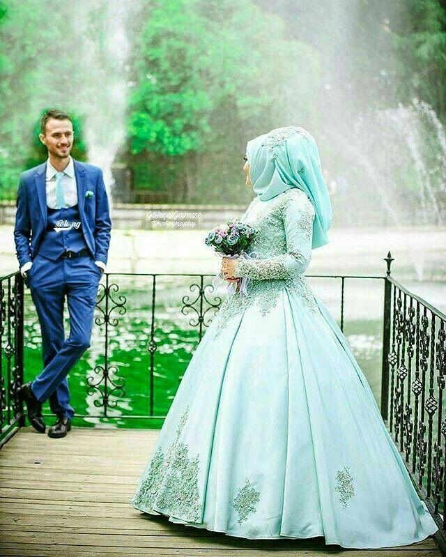 Wedding Hijab, Bridal Hijab, Wedding Bride, Muslim Wedding Gown, Hijab  Bride,