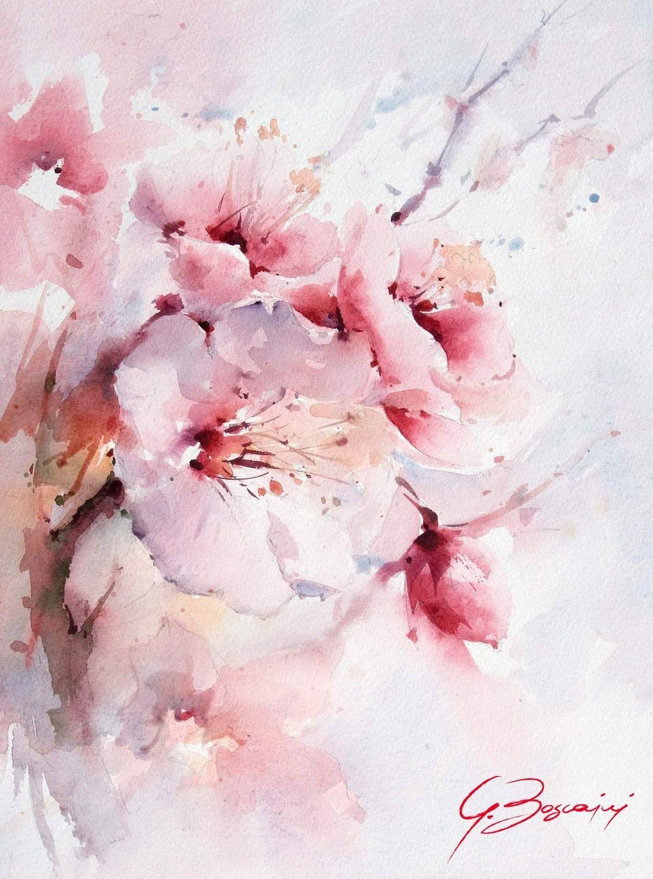 Картинки, цветы открытки акварелью