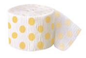 Love this yellow polka-dot crepe paper!  - Jilly Bean Kids jillybeankids.com