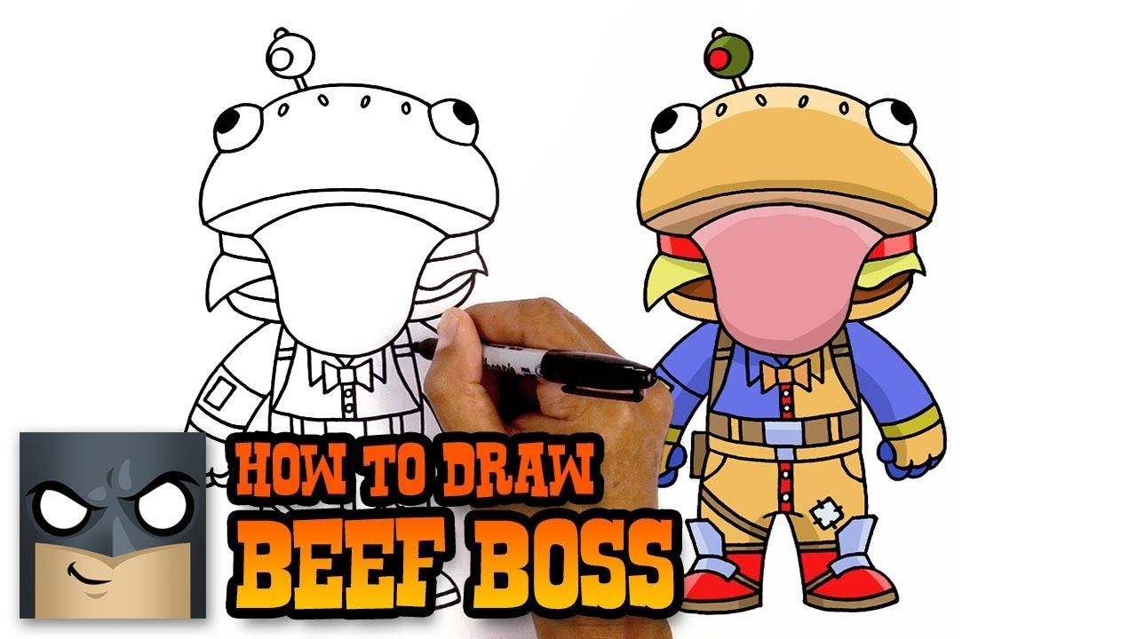 How To Draw Beef Boss Fortnite Awesome Step By Step