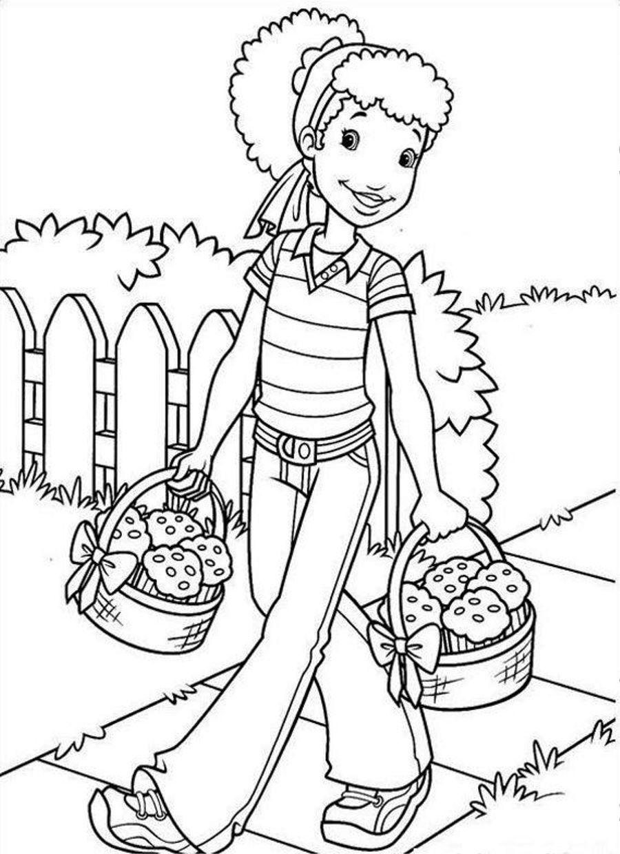african american kids coloring pages - photo#11