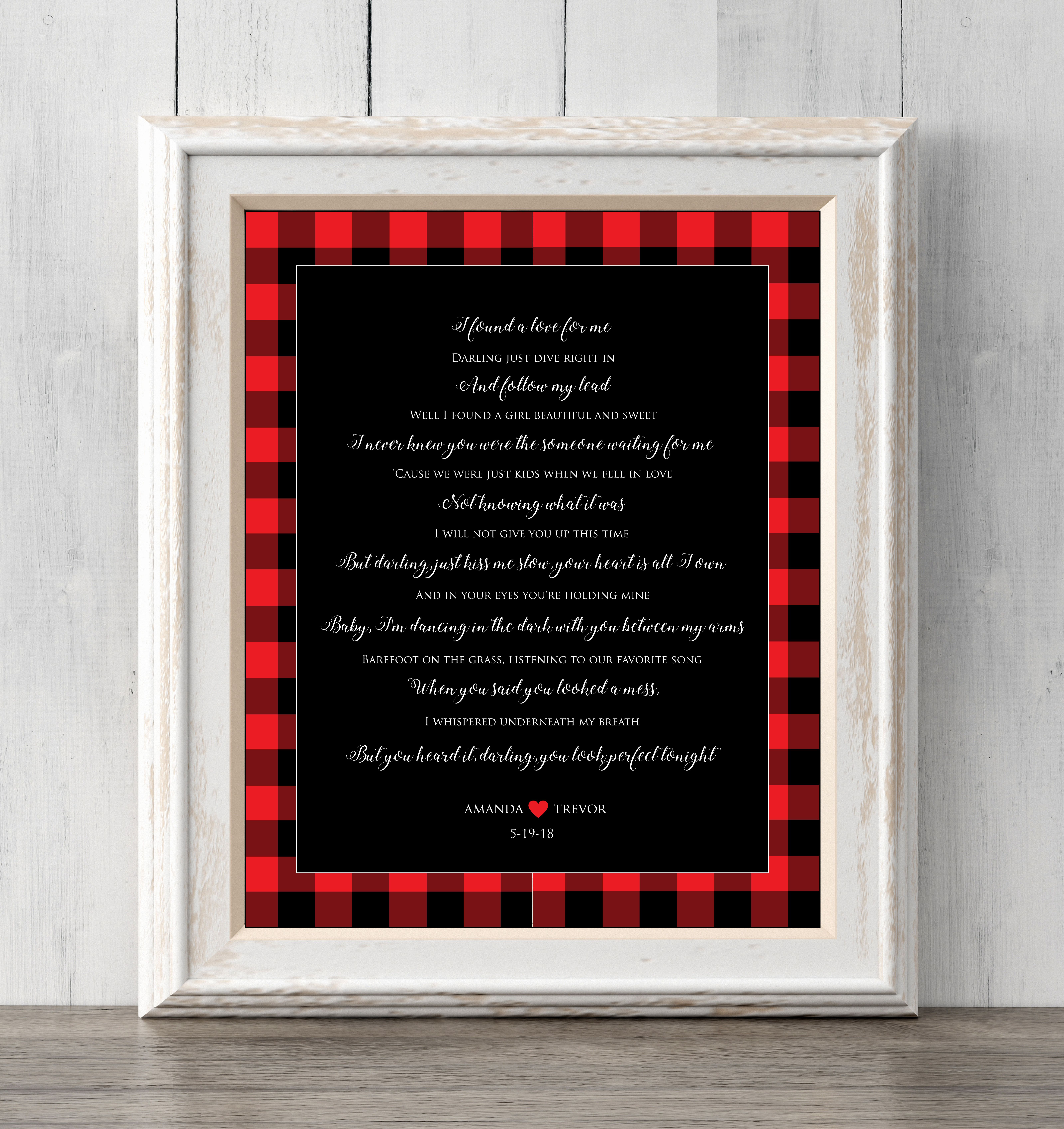 Ed Sheeran Perfect Print Christmas Gift. Personalized. Buffalo plaid ...