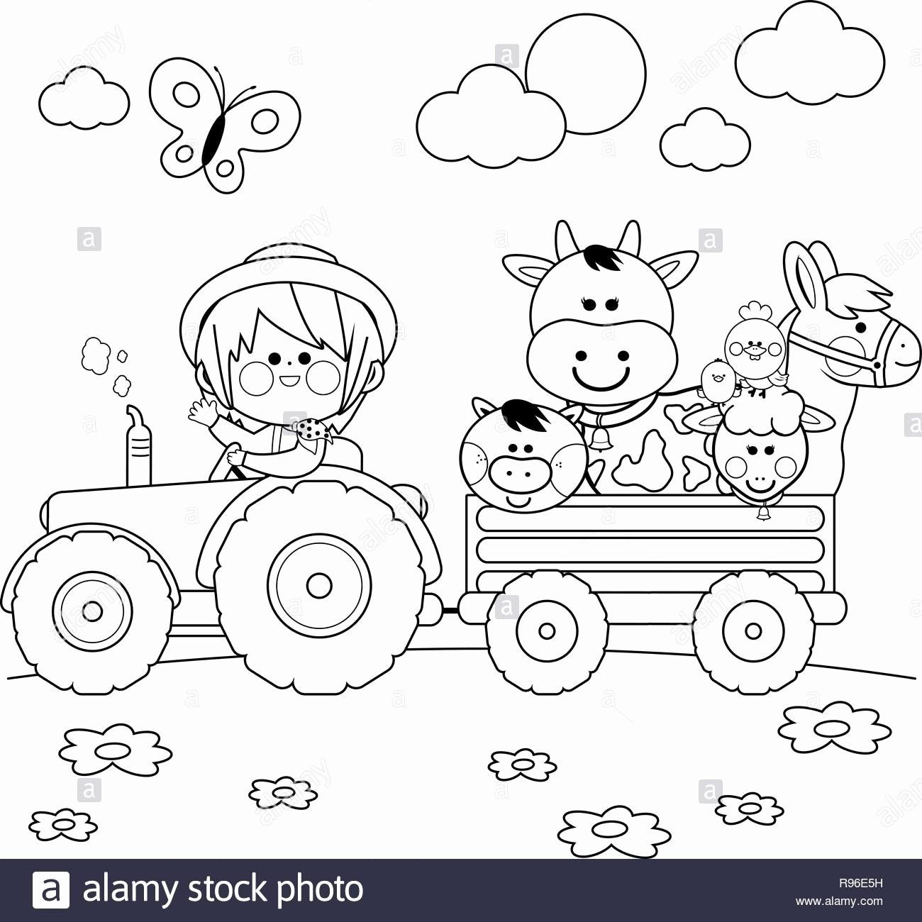 Pin By Rosi Williams On Obrazky Tractor Coloring Pages Farm Coloring Pages Animal Coloring Books