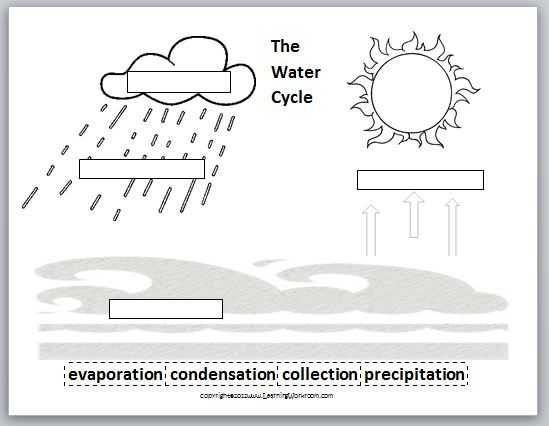 Water Cycle Worksheet For Kids #1 | Preschool C | Water ...