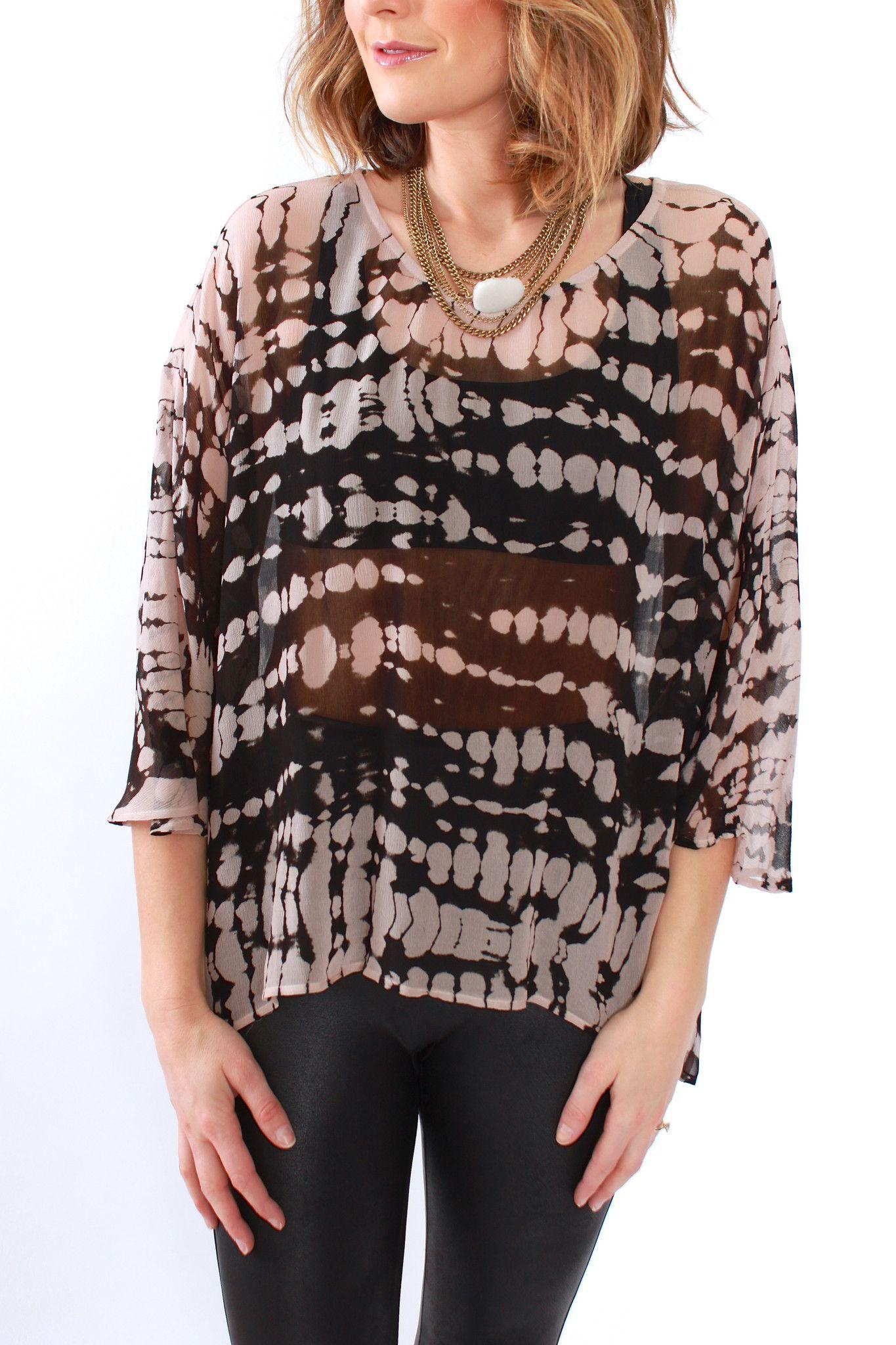 Gypsy, Silk Tie-Dye Blouse from Viva Diva Boutique