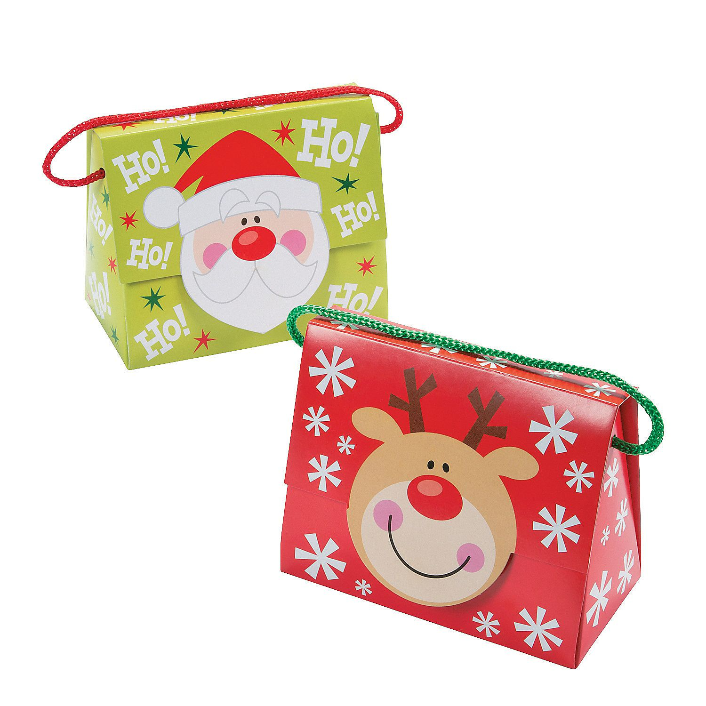 Christmas Tent Boxes with Handle - OrientalTrading.com  sc 1 st  Pinterest & Christmas Tent Favor Boxes with Handle | Tents Box and Favors