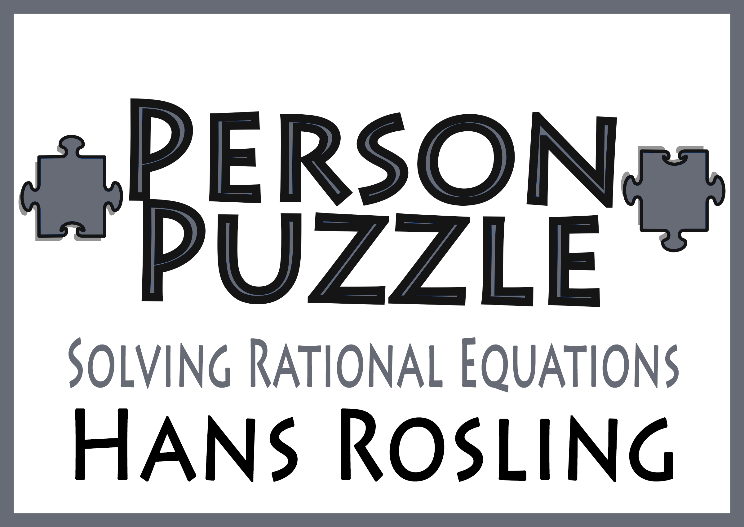 Person Puzzle Solving Rational Equations