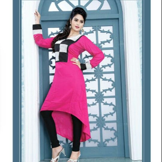 ee7ad91be8c Smart pink up & down... | Looks.. | Kurti, Party wear kurtis, Saree ...