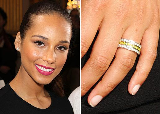 aliciakeys classy wedding band Celebrity wedding ring