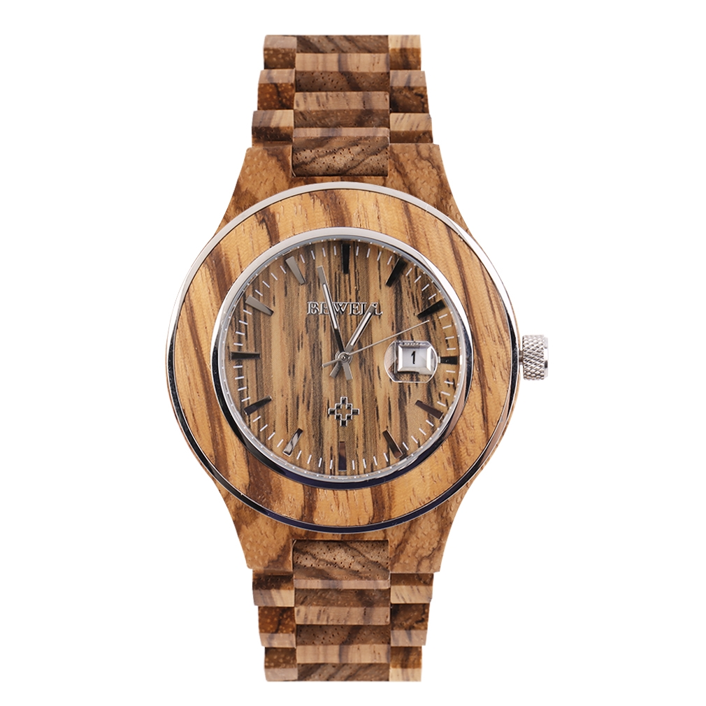 32.50$  Know more  - 2017 Man Wooden Watch New Year Gift Bangle Quartz Watch With Calendar Display Role Men Relogio Masculino Watches Hot Selling