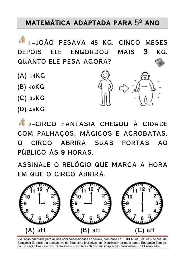 Pin Em Atividades Portugues E Matematica