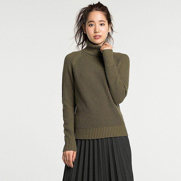 Women cashmere blend turtleneck sweater | Cashmere