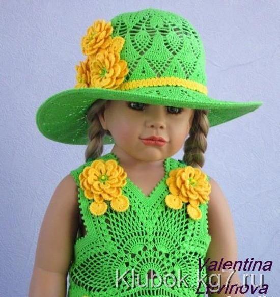 Mis Pasatiempos Amo el Crochet: Vestido y capelina de niña | muñecas ...