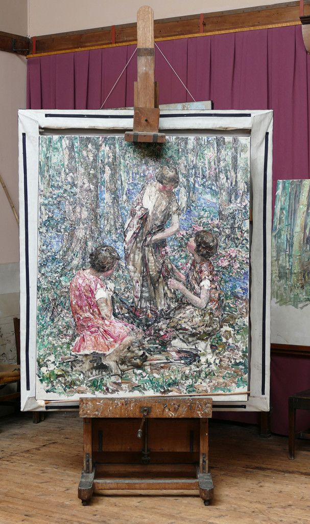 Broughton House Hornel's easel © 2015 Scotiana: