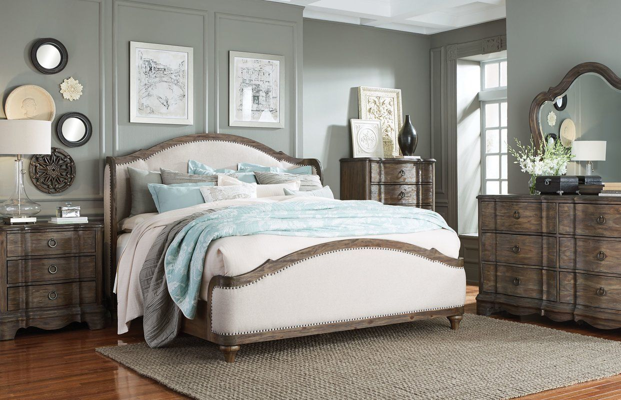 Michiel Upholstered Configurable Bedroom Set King