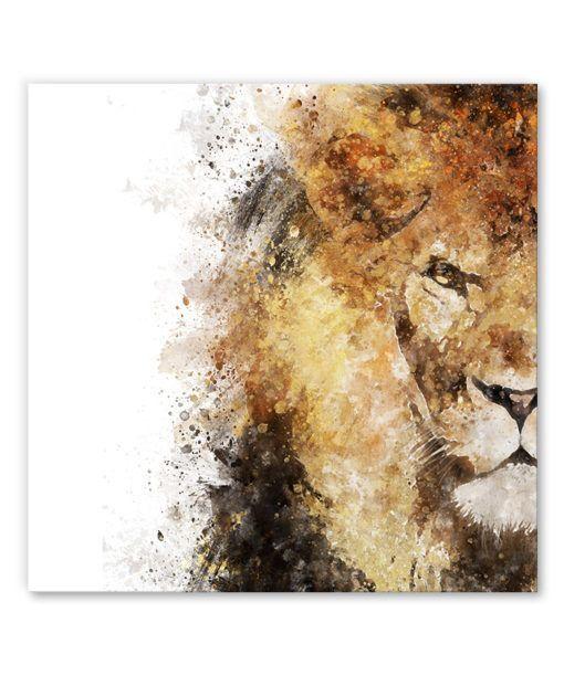 Tableau Deco Portrait Lion Aquarelle Animal 01 En 2020 Tableau