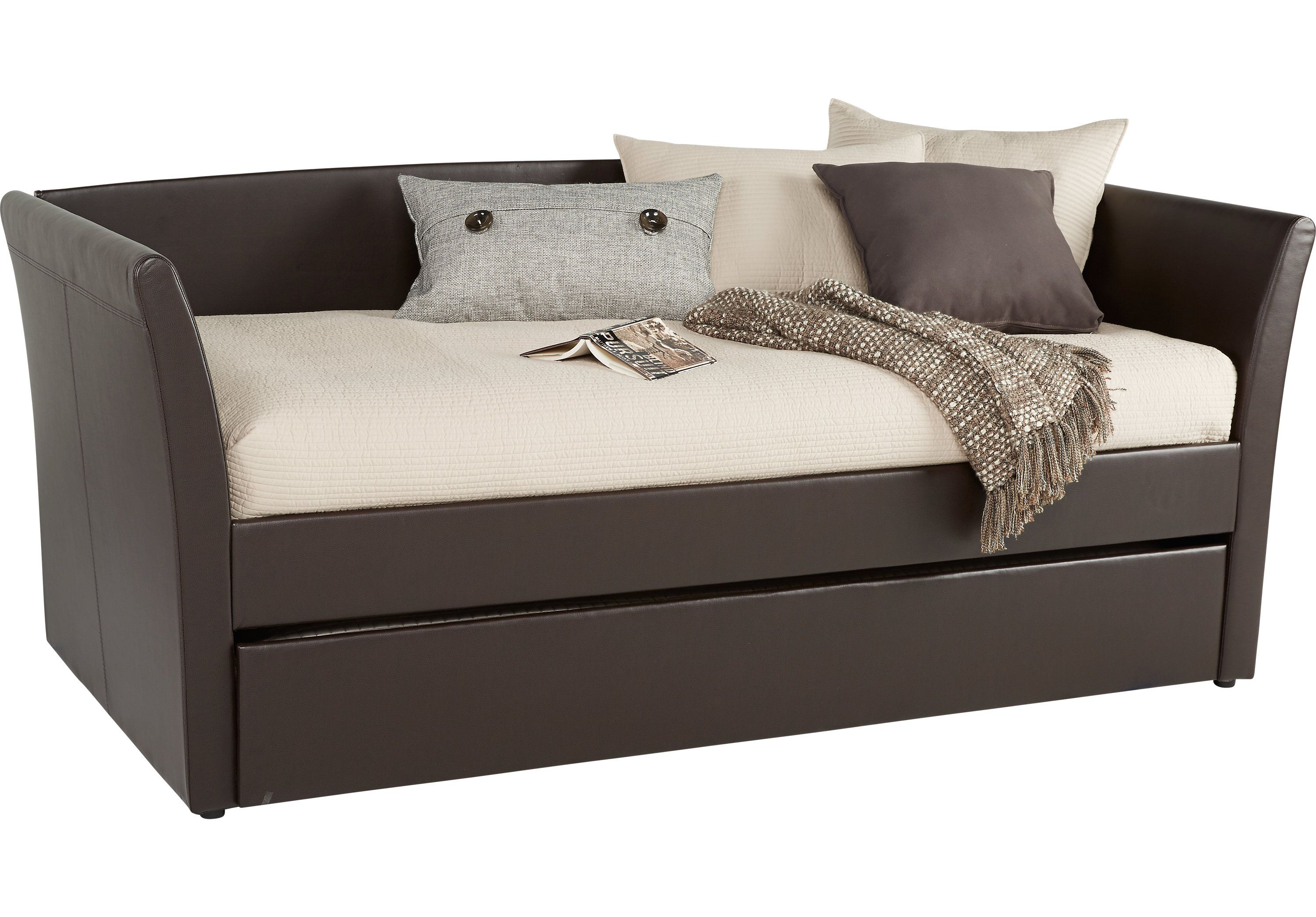 Super Brianne Brown Daybed With Trundle Daybed With Trundle Short Links Chair Design For Home Short Linksinfo
