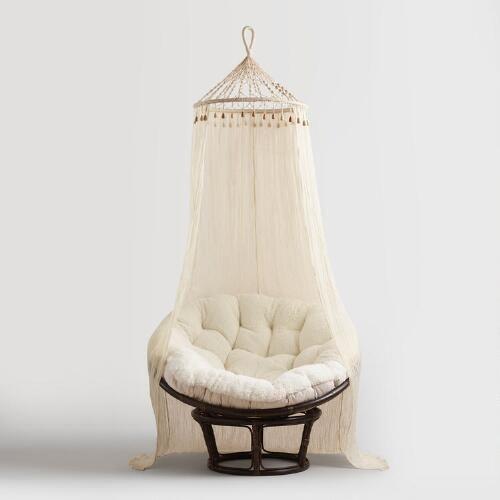 Boho Sheer Cotton Macrame Canopy
