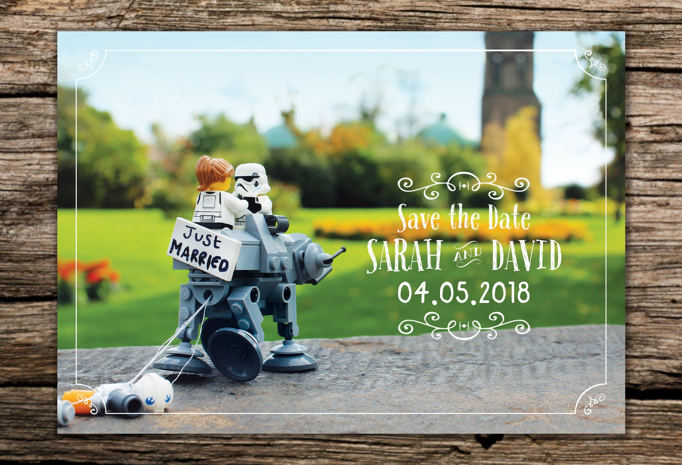 Just Married Star Wars Inspired Save The Date Card By Typo56 On
