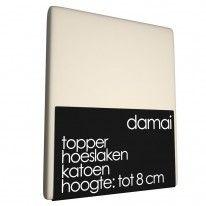 Topper Hoeslaken Damai 8 cm Silver Sand (Katoen) € 32.95