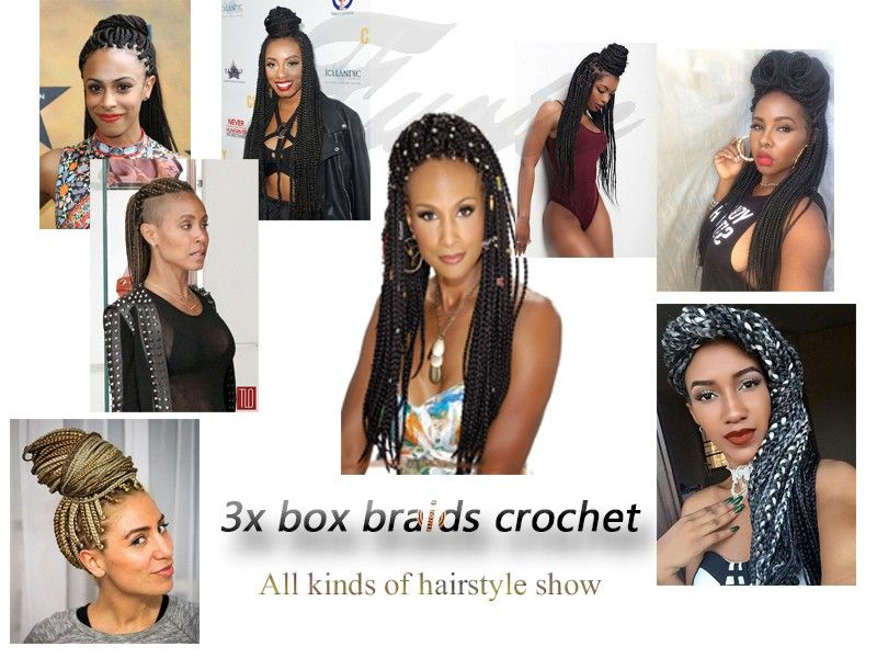 All kinds of box braids hairstyle show | box braids | Pinterest ...