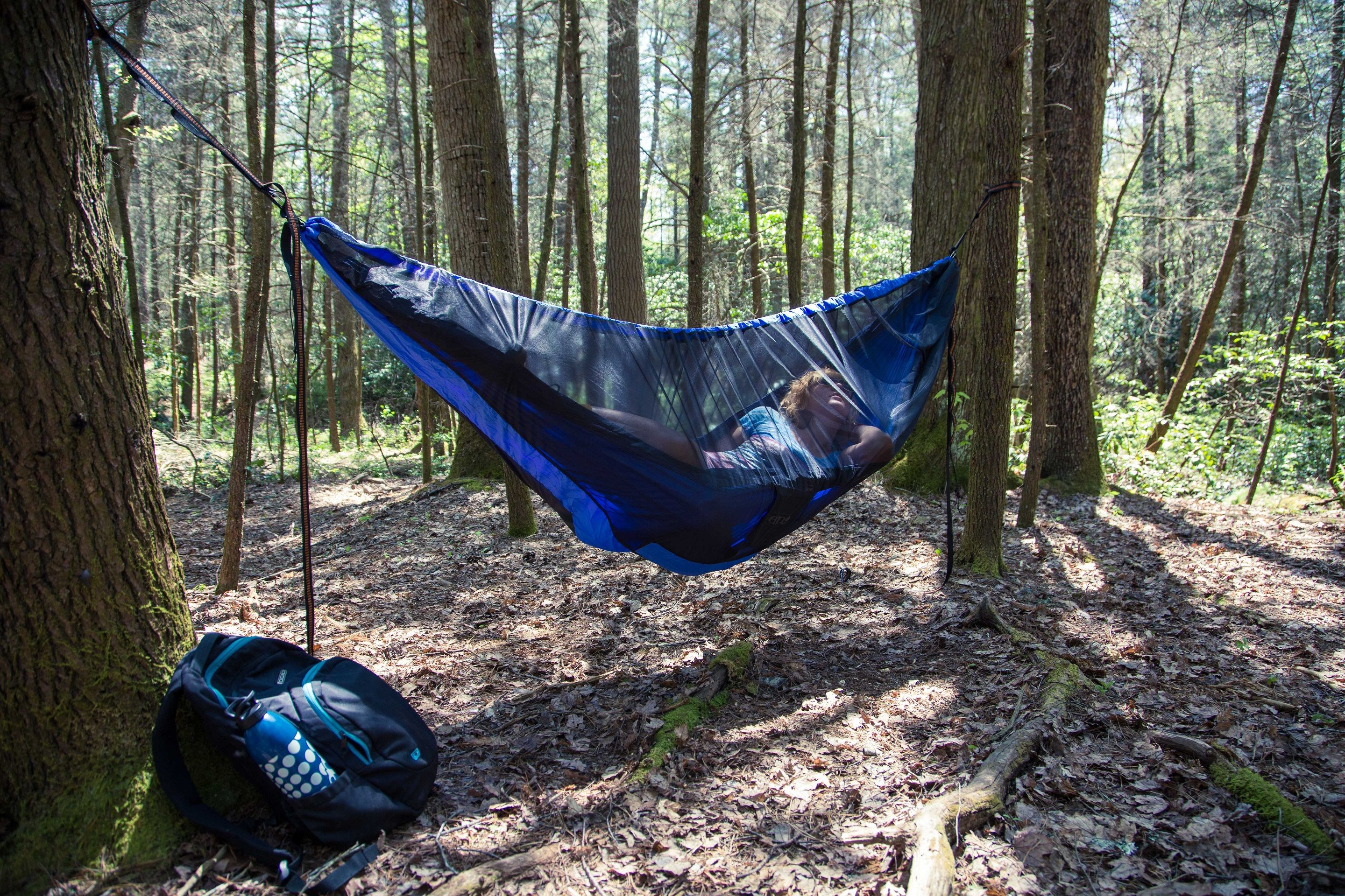 hammock forest setup beautiful highcarbonsteel in net bug love the day a eno guardian and watch my warm
