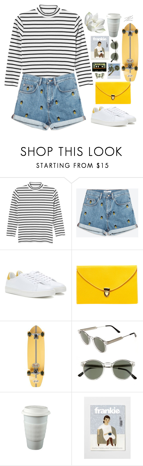 """Untitled #2758"" by wtf-towear ❤ liked on Polyvore featuring Monki, Anya Hindmarch, Boohoo, Element, Spitfire, Michele and BOBBY"