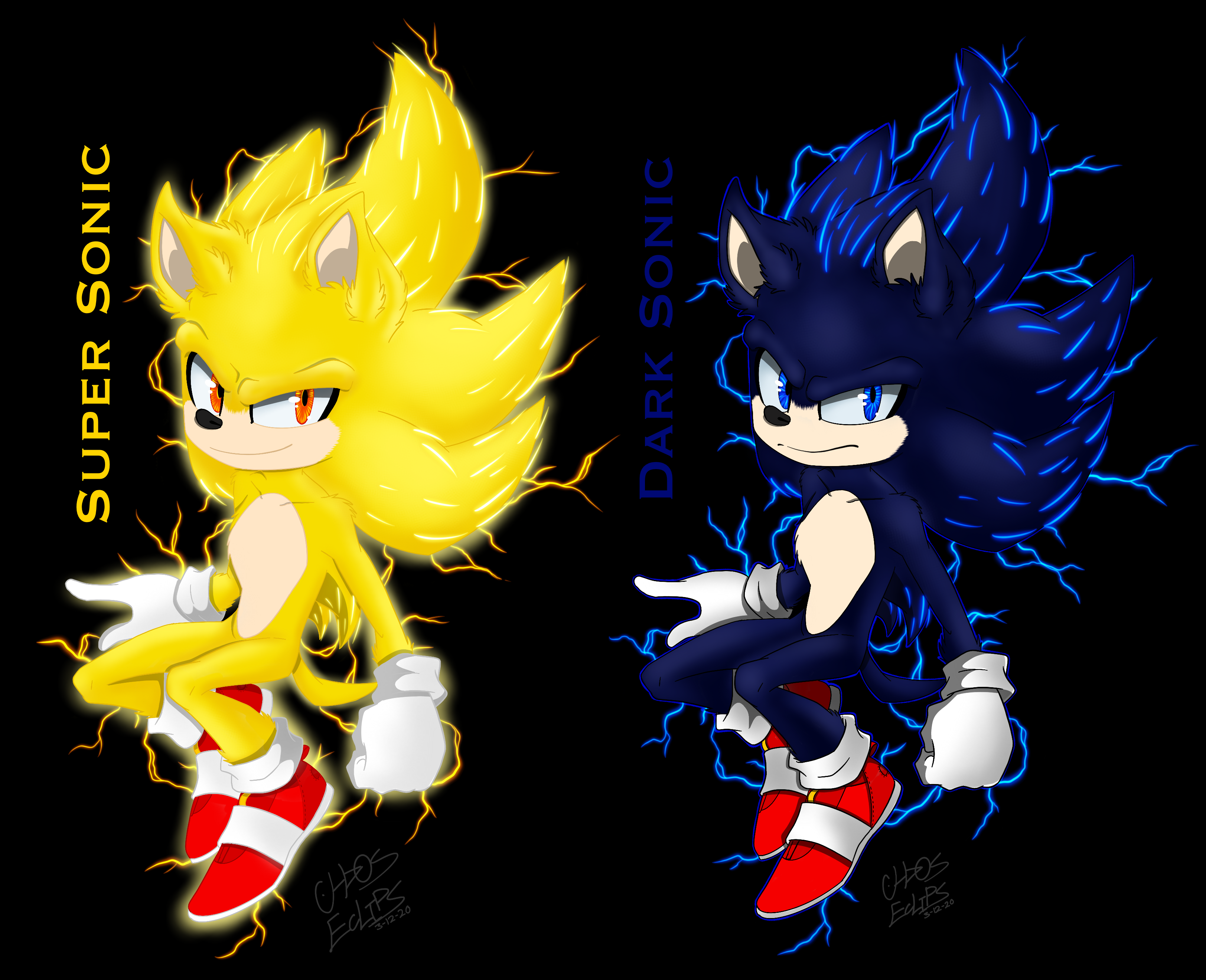 Super Dark Movie Sonic By Chaoseclips Sonic Hedgehog Movie Sonic The Movie